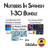 Los Numeros 1-30 - Numbers in Spanish - Bundle