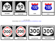 Los Numeros 10 - 1,000,000 3 Part Cards