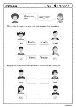 Numbers in Spanish - Los Números 11-20 - Activity Pack