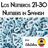 Los Numeros 21-30 - Numbers in Spanish - Activity Pack