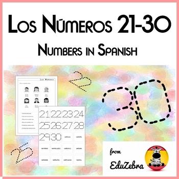 Numbers in Spanish - Los Números 21-30 - Activity Pack