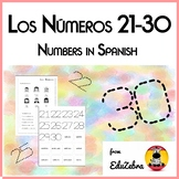 Numbers in Spanish - Los Números 21-30 - Activity Pack