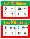 Los Numeros Bingo with words 0-10