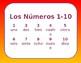 Los Numeros - Elementary Spanish Numbers 1-10 - Juanita Bonita