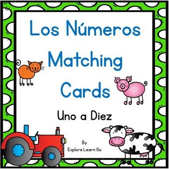 Los Números Matching Cards / Farm Theme / Montessori Style