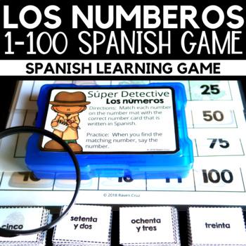 Los Números Spanish Numbers 1 to 100 Game