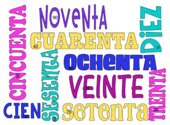 Los Números  Numbers 1-100 in Spanish