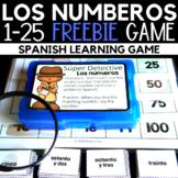 Los números - Numbers 1-25 Spanish Game Freebie