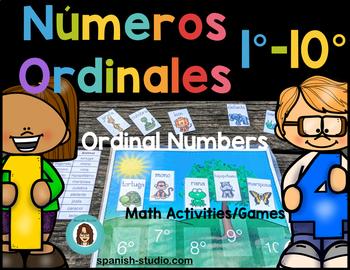 Ordinal Numbers 1-10 (Spanish)
