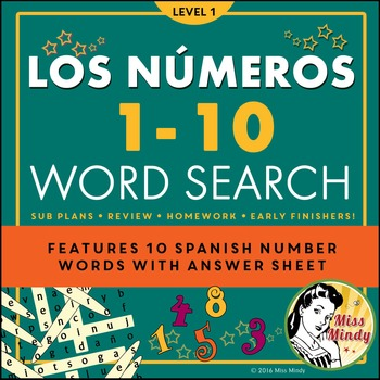Spanish Numbers 1-10 Teaching Resources | Teachers Pay Teachers