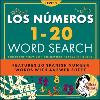 Spanish Numbers 1-20 Teaching Resources | Teachers Pay Teachers