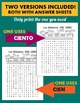 Los Numeros - Spanish Numbers 100-1000 Word Search Puzzle Worksheet