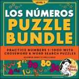 Los Numeros Spanish Numbers PUZZLE BUNDLE (1-1000) Crosswo