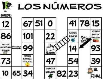 Los Numeros Spanish Numbers Unit - Notes, Practices, Quizzes & Games