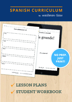 Los Numeros Teacher Lesson Plans with Student Workbook Pages