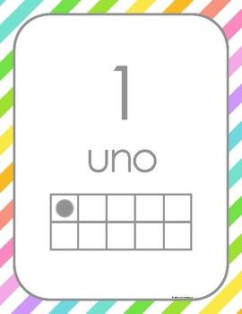Los Números de 0-20   {En Español}  Number Poster 0-20 in Spanish