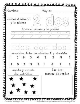 Los Numeros del 1-20