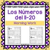 Los Números del 11-20 Morning Work