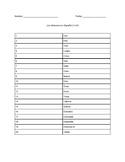 Los Números en Español (1-20)