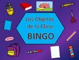 Los Objetos de la Clase BINGO – Spanish Classroom Objects Vocabulary