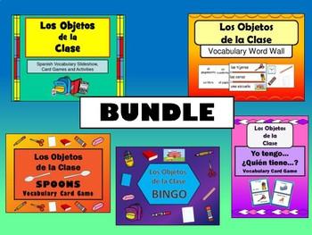 Los Objetos de la Clase BUNDLE -Spanish Classroom Objects