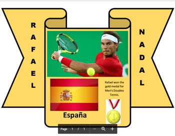Los Olímpicos 2016 - Hispanic Olympic Athletes Bulletin Board Set