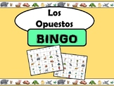 Los Opuestos-Opposites Bingo in Spanish with Vocabulary Slideshow