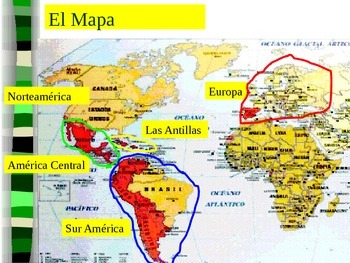 Blank Map Of America Ks2.Map Of America Central Y Las Antillas