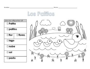 Los Patitos - Escribe en Español (Spanish) Kinder