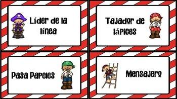 Piratas!! Classroom setup en Español.. Growing Bundle