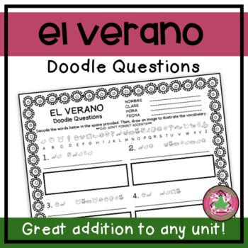 Los Planes del Verano (Summer Plans) Doodle Questions