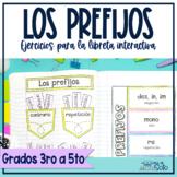Prefijos Spanish Prefixes (activities for the Interactive