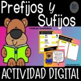 Los Prefijos y Sufijos en Español Actividad Digital - Google Slides™