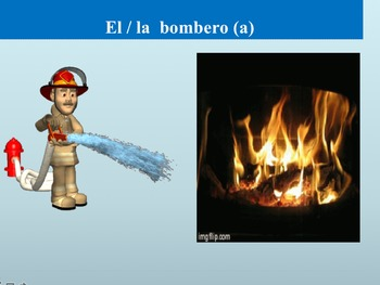 Los Profesiones: Engaging presentation to introduce vocabulary in context