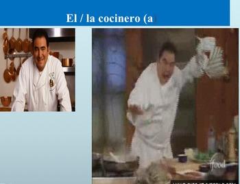 Los Profesiones: Engaging presentation to introduce vocabu