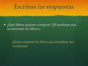 Los pronombres relativos PowerPoint for AP Spanish