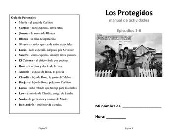 Los Protegidos Primera Temporada (First Season) : TV show activities booklet