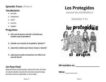 Los Protegidos Segunda Temporada (Second Season) : TV show activities booklet