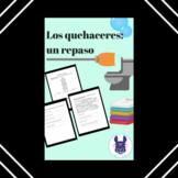 Los Quehaceres - Chores - Spanish