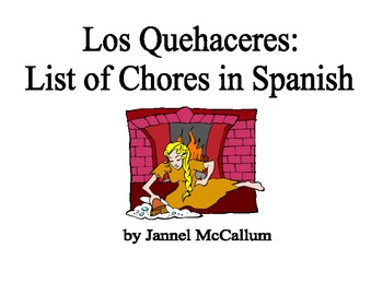 Los Quehaceres (List of Chores in Spanish)