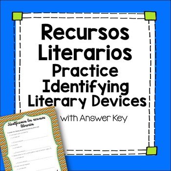 Los Recursos Literarios - Spanish Identifying Literary Devices