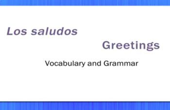 Los Saludos - Greetings - Video Tutorial