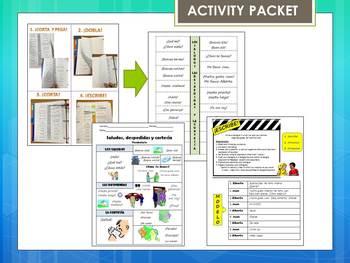 Los Saludos / Spanish Greetings Activity Packet