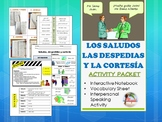 Los Saludos / Spanish Greetings Activity Packet