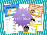 Los Sentimientos - Feelings Flashcards and Activities for the Spanish classroom