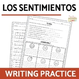 Los Sentimientos Spanish Feelings Writing Worksheets