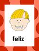 Los Sentimientos  Spanish flash cards about fellings