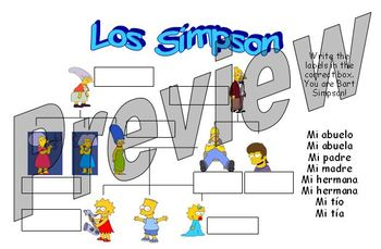 Los Simpson - learning the names of family members