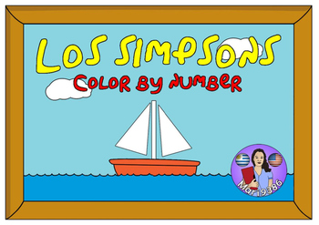 FREE - The Simpsons. Color by number