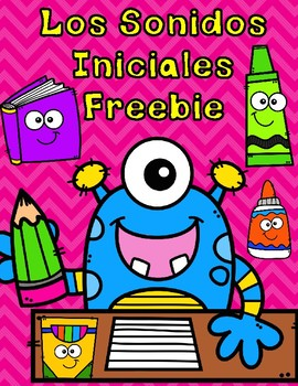 Los Sonidos Iniciales FREEBIE:  Spanish Initial Sound Cut and Paste Activity